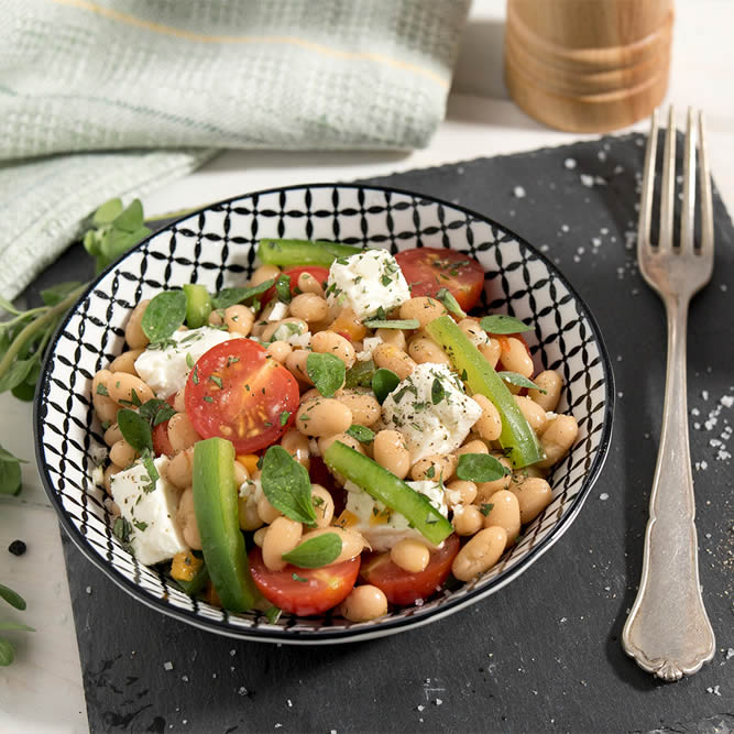 Sheep's Cheese and Bean Salad